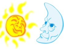Sun and the Moon